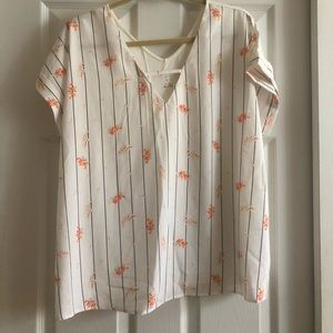 A new day brand top. Floral